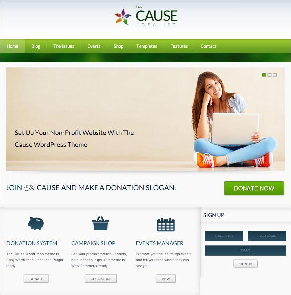 21 non profit php themes templates free premium templates