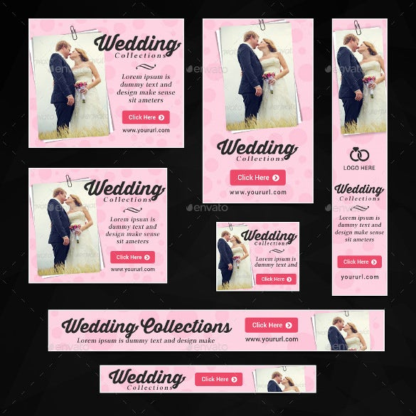 collection of wedding banner templates download