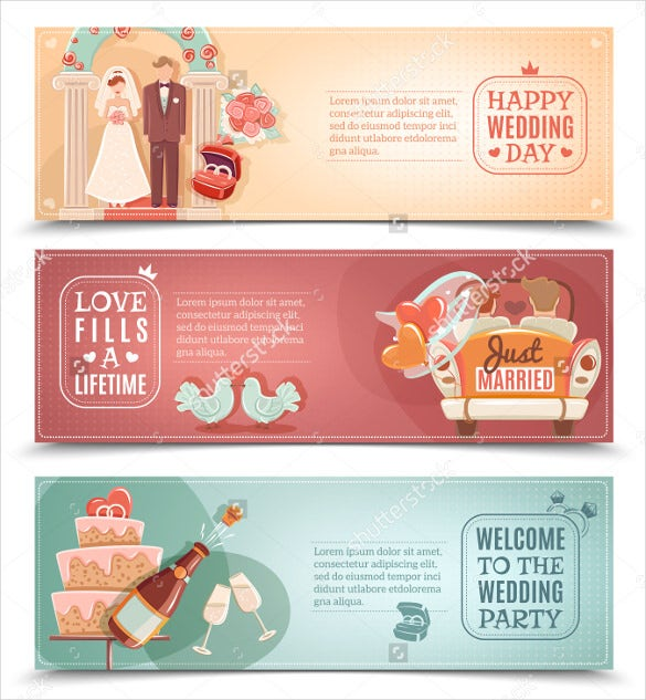 elegant wedding banner template download