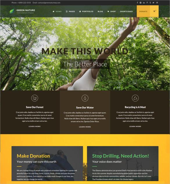 environmental non profit html5 wordpress theme 591