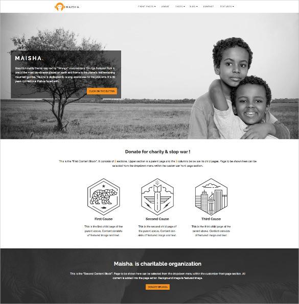 charity volunteer non profit html5 wordpress theme1