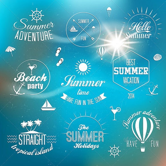 summer holiday design labels template