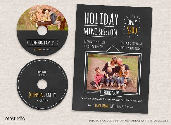 holiday cd label template