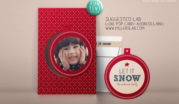address label holiday template