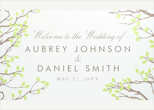 blissful branches wedding banner template download