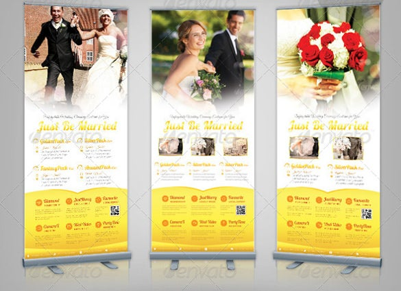 corporate rollup wedding banner template download