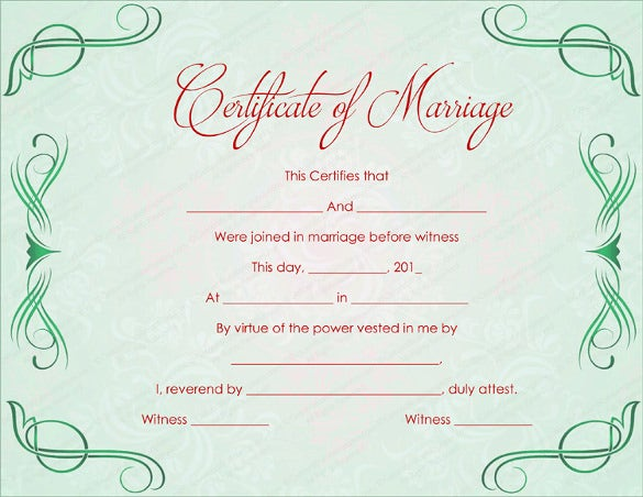 Vintage Marriage Certificate Design Template In Psd Word: Wedding Certificate Template