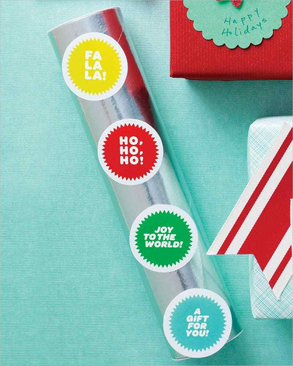 best holiday gift tags labels template