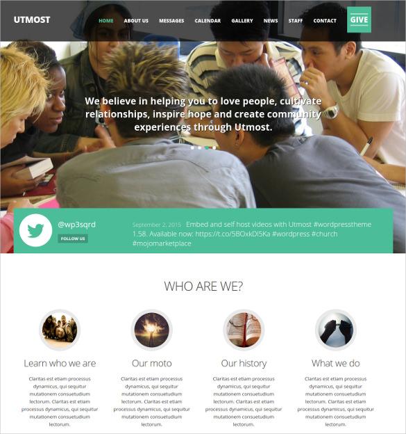multimedia church non profit charity blog wordpress theme 492