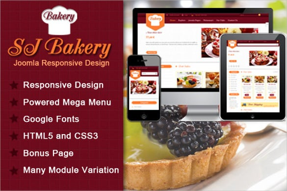 sj bakery menu for food template sample download