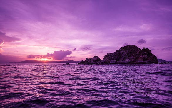 british virgin islands sunset nature wallpaper