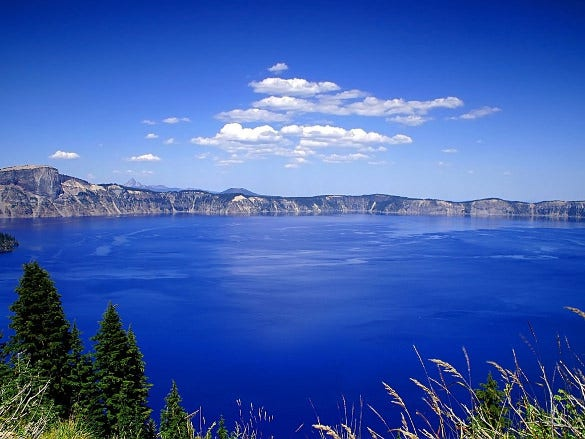 blue lake nature wallpaper