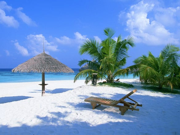 exotic paradise beach nature wallpaper