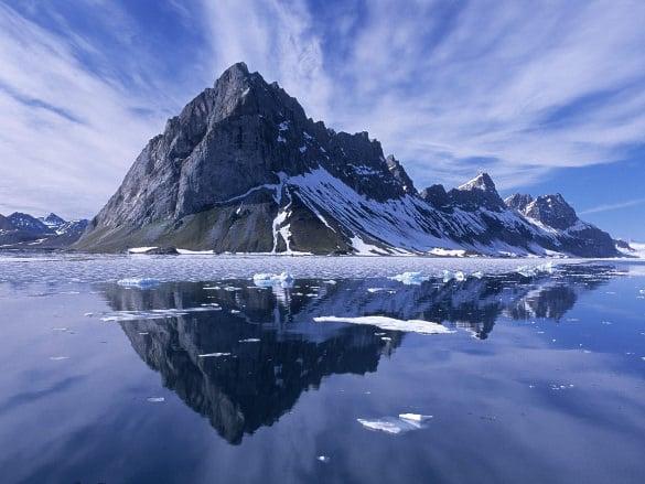 mountain reflection nature wallpaper