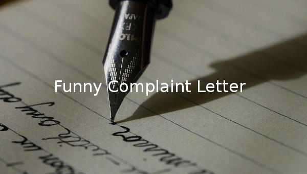 funny complaint lette
