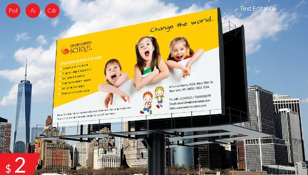 kindergartenschoolbillboarddownload