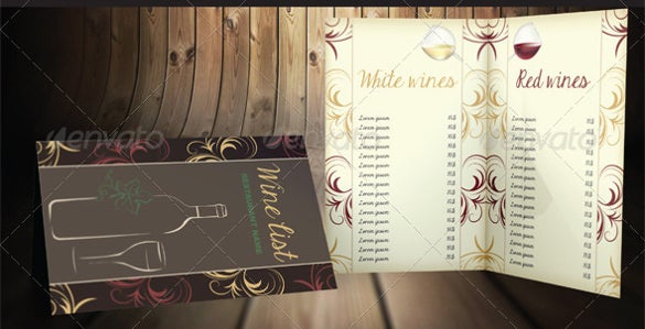 vector eps format of wine menu template