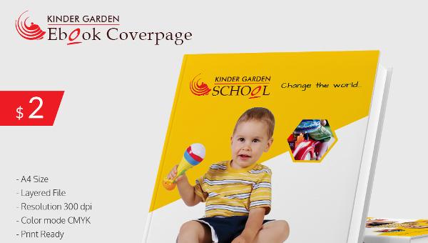 kindergarten school ebook cover page download