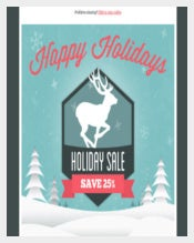 Holiday Email Invitation Template