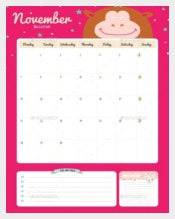 Calendar Diary Template For 2016