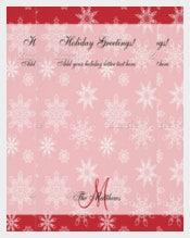 Beautiful Red Holiday Letter Template