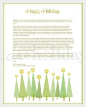 Beautiful Retro Holiday Letter Template