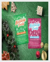 Best Holiday Party Flyer Template