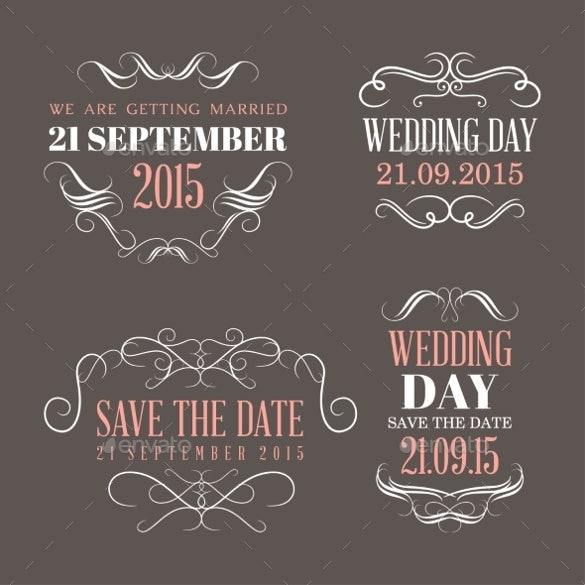 colorful wedding label template download