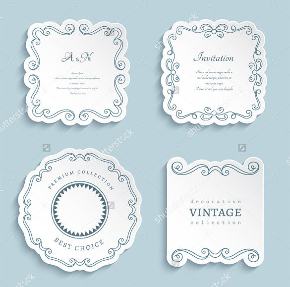 wedding invitation label download