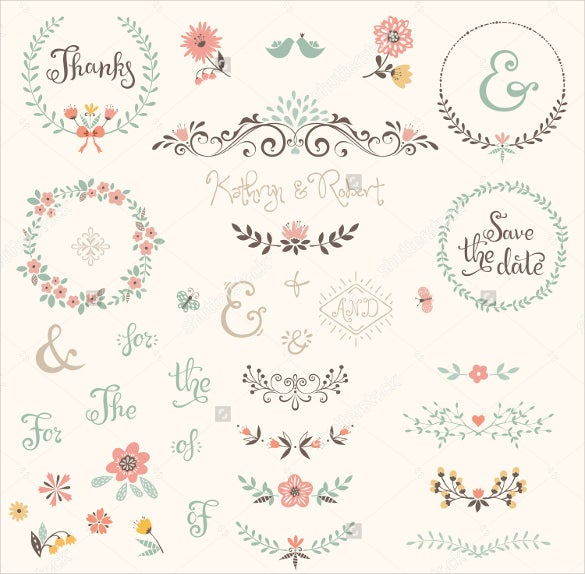 Wedding Label Template Free PSD AI Vector EPS Format - Wedding label templates