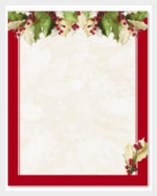 Holly Christmas Border Template