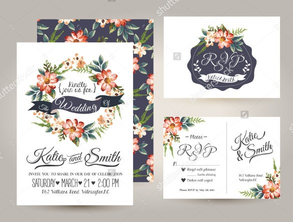 floral design wedding label template