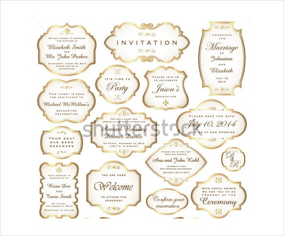 gold boarder wedding background template download