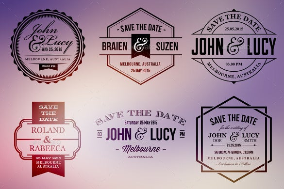 collection of 15 wedding label templates download