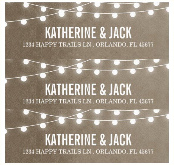 wedding label template download