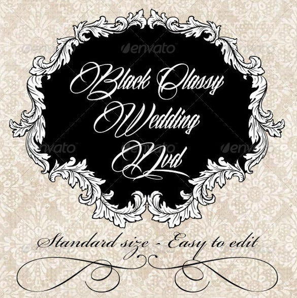 simple and clear wedding label template download