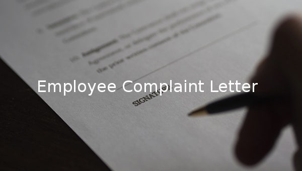 employeecomplaintletter