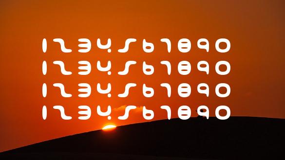 001 interstellar log number font download