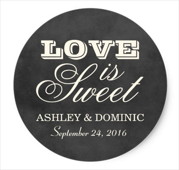 print ready wedding sticker template download