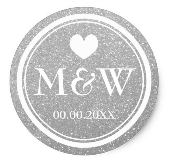 designed wedding sticker template download