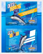 Beautiful Fishing Postcard Template