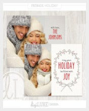 Beautiful Holiday Card Label Template