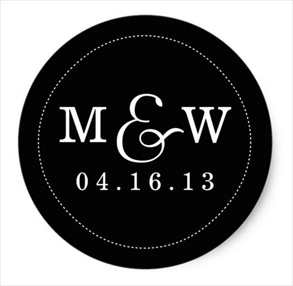 black background wedding sticker template download