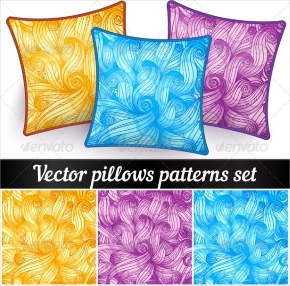 abstract vector pillowcase pattern