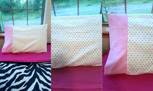 polka dot pillowcase pattern