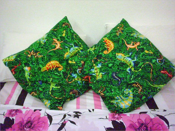 reptile pillowcase pattern