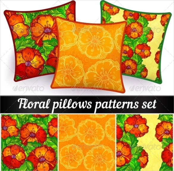 floral pillowcase pattern