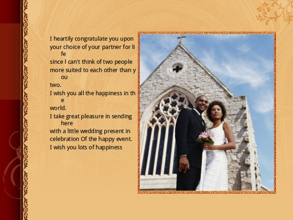 wedding powerpoint template for free download
