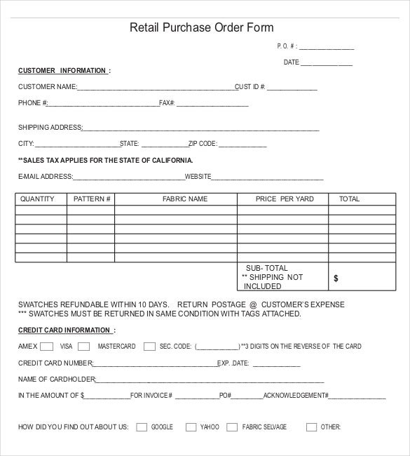 17 purchase order templates free pdf word doc examples for It purchase request form template