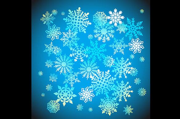 vector christmas snowflake pattern